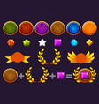 awards round shield and gems set constructor to vector image vector image