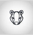 badger logo icon design vector image vector image