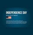 banner style independence day art vector image vector image