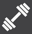 barbell glyph icon fitness and sport dumbbell vector image vector image