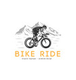bike ride logotype vector image vector image
