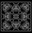Black and white abstract bandana print