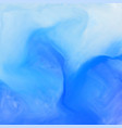 blue watercolor ink effect background vector image