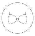 bra icon black color in circle or round vector image vector image