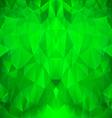 Bright Green Polygonal Pattern vector image vector image