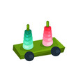 bright stacking toy educational toy for toddlers vector image vector image