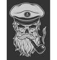 Captain Skull in a hat with a beard vector image vector image