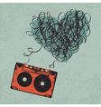 Cassette heart tangled