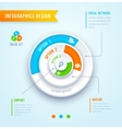 circle graph infographics vector image
