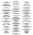 collection of vintage calligraphic flourishes vector image vector image