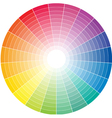 Color whell to white vector image