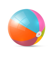 Colorful Retro Beach Ball Isolated on White vector image vector image