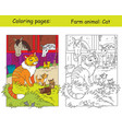 coloring and color for children cat vector image vector image