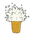 comic cartoon frothy beer vector image vector image
