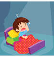 Cute boy have Sleepless vector image