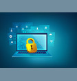 cybersecurity vector image vector image