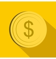 Dollar icon flat style vector image vector image