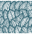 floral pattern decorative leaves seamless vector image
