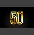 gold number 50 logo icon design