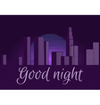 Good night Night city cityscape vector image vector image