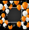 halloween card with color balloons vector image