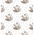 hand drawn dandelion background vector image vector image