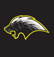 honey badger mascot logo template vector image vector image