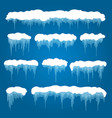 icicles and snowdrifts vector image vector image