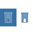 icon of medieval scotland castle european vector image