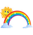 image with rainbow theme 8 vector image vector image