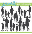 kids silhouettes vector image vector image