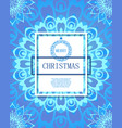 merry christmas on the background of snow vector image vector image