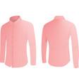 pink shirt vector image