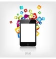 Realistic detalized flat smartphone with vector image vector image