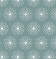 Retro Silver Flower Pattern on Pastel Color vector image vector image