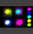 round blue green pink yellow cyan neon colors vector image