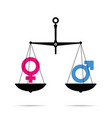 scale with male and female symbol vector image vector image