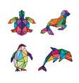 sea animal low poly vector image