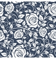 Seamles pattern with stems of white roses vector image