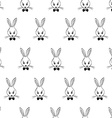 Seamless Pattern With Rabbits Faces vector image vector image