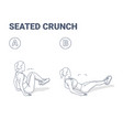 seated crunch woman abs home workout exercise