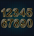 set golden numbers vector image vector image