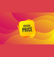 special price symbol sale sign vector image vector image