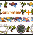 summer and summertime motif endless seamless vector image vector image