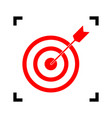 target with dart red icon inside black vector image
