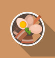 thai food pa lostewed pork with eggs flat desi vector image vector image