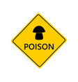 traffic sign for mushrooms on white vector image vector image