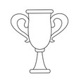 trophy winner sport award champion vector image vector image