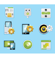 typical smartphone apps icons vector image vector image
