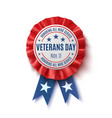 veterans day badge realistic patriotic award vector image vector image